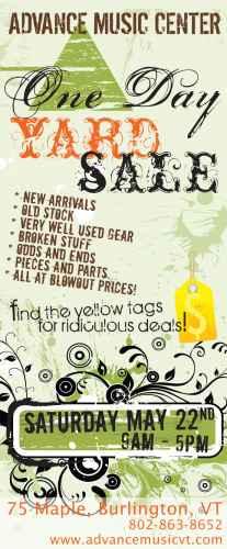 Yard sale ad portfolio item