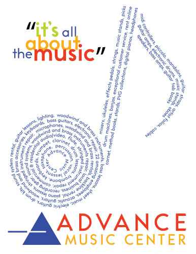 musical note graphic made from musical terms