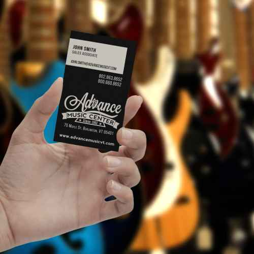 Advance Music business card